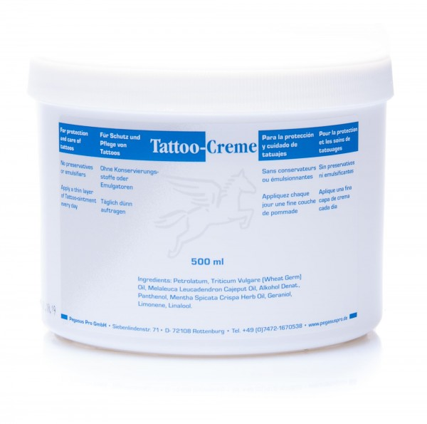 Pegasus Tattoo-Creme mit Cajeputöl, 500 ml