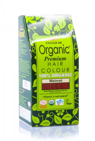 Radico Colour Me Organic Pflanzenhaarfarbe Wine Red weinrot,100 g