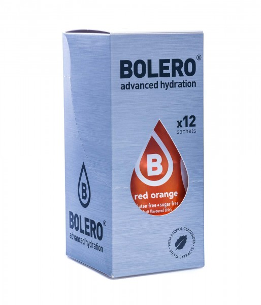 Bolero Drinks Getränkepulver Blutorange Red Orange, 12er Pack (12 x 9 g)