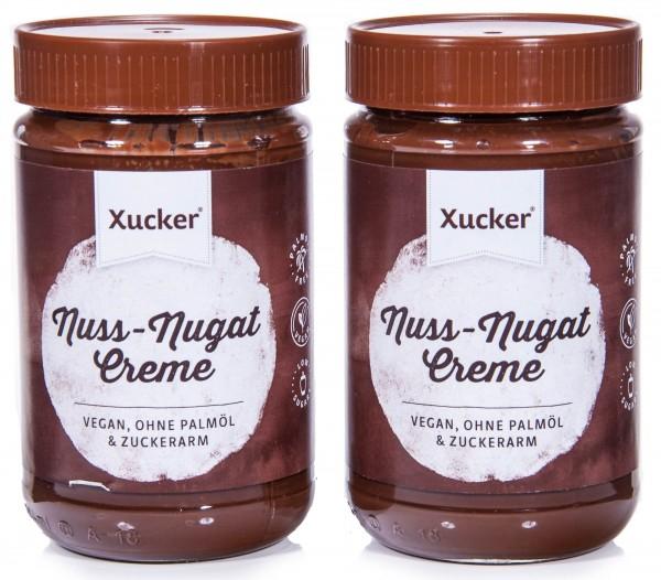 Xucker Nuss-Nougat Creme mit Xylit, 2er Pack (2 x 300 g)