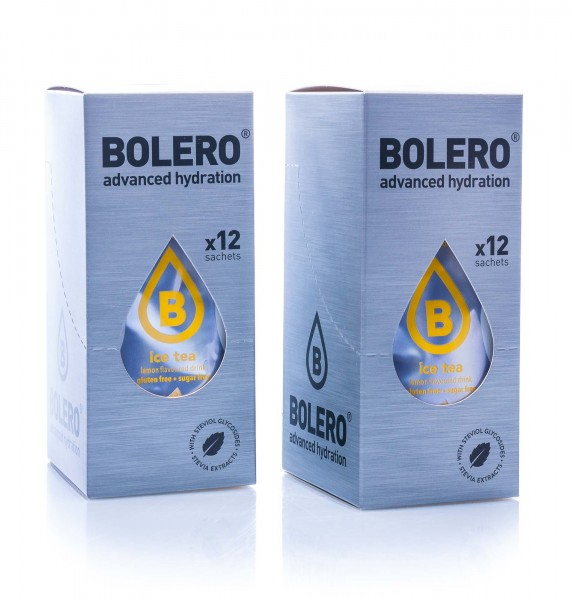 Bolero Drinks Getränkepulver Eistee Zitrone Ice Tea Lemon, 24er Pack (24 x 8 g)