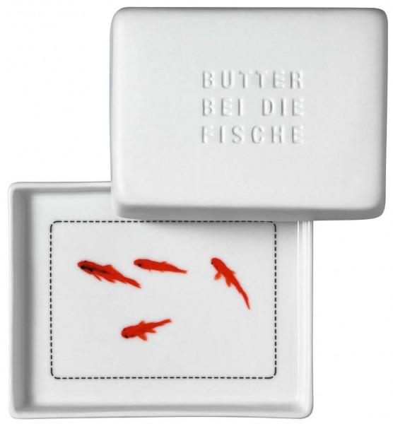 """Räder Butterdose """"Butter bei die Fische"""", klein, 10 x 8 x 5 cm"""