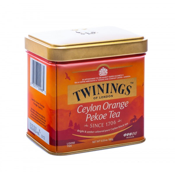 Twinings of London Ceylon Orange Pekoe Tea, lose, Dose, 100 g