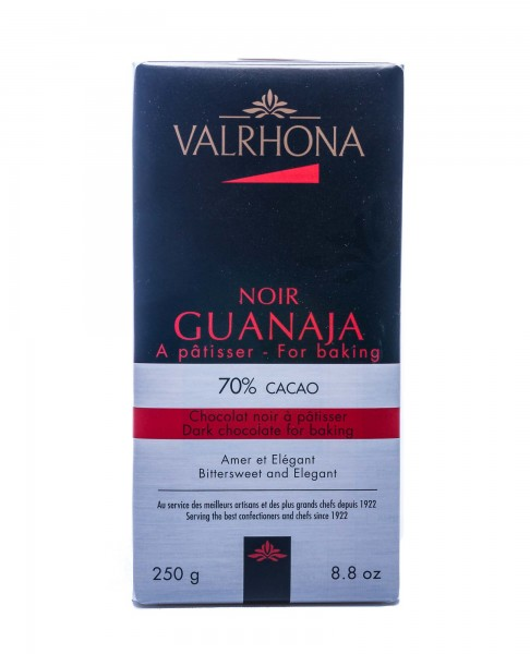 Valrhona Dunkle Kuvertüre-Schokolade Noir Guanaja mit 70% Kakaoanteil, 250 g