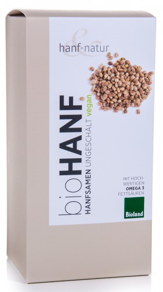 Hanf&Natur Bio Hanfsamen ungeschält, 500 g