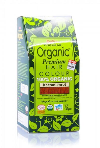 Radico Colour Me Organic Pflanzenhaarfarbe Auburn Red kastanienrot, 100 g