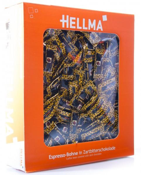 Hellma Espresso-Bohne in Zartbitterschokolade, 380er Pack (380 x 1,1 g)