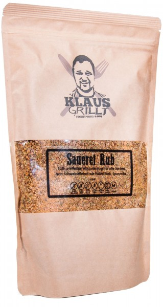 Klaus Grillt Sauerei Rub, XL-Beutel, 750 g