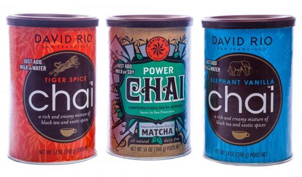 David Rio Chai 3er Set, Tiger Spice Chai, Power Chai, Elephant Vanilla Chai (3 x 398 g)