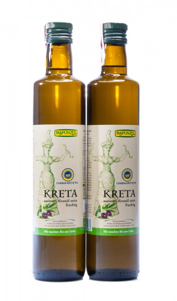 Rapunzel Bio Olivenöl Kreta P.G.I., nativ extra, 2er Pack, 2 x 500 ml
