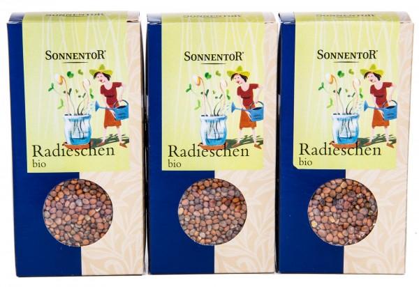 Sonnentor Bio Radieschen, 3er Pack (3 x 120 g)