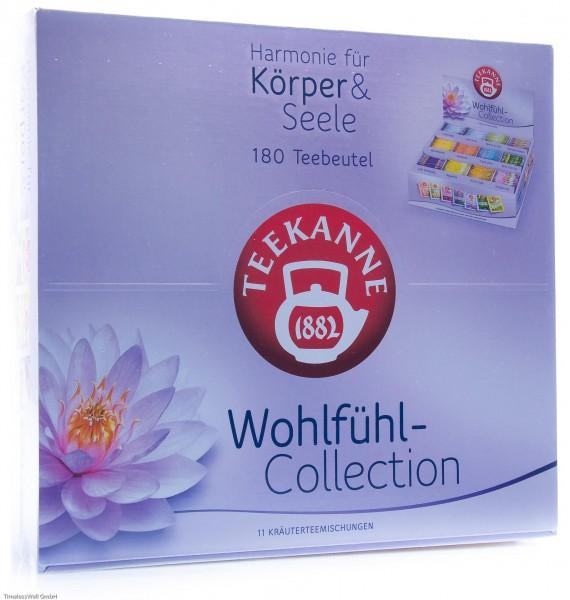 Teekanne Wohlfühl-Collection Box, 180 Teebeutel in 12 Sorten, 353 g