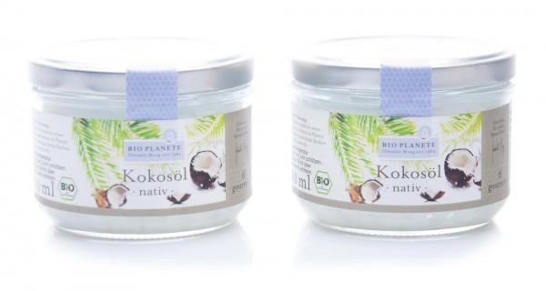 Bio Planete Bio Kokosöl nativ, 2er Pack (2 x 200 ml)