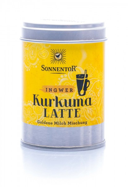 Sonnentor Bio Trink-Kurkuma-Latte Ingwer, 60 g Dose