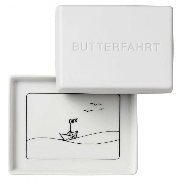 """Räder Butterdose """"Butterfahrt"""", groß, 13 x 10 x 6 cm"""
