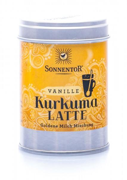 Sonnentor Bio Trink-Kurkuma-Latte Vanille, 60 g Dose