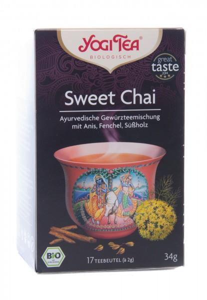 Yogi Tea Bio Sweet Chai, 17 Teebeutel á 2 g