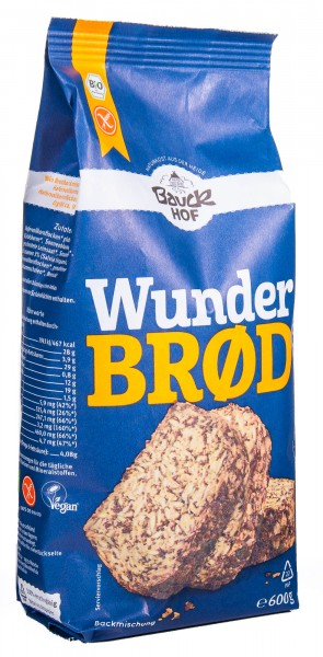 Bauckhof Bio Wunderbrot Brotbackmischung, 2er Pack (2 x 600 g)