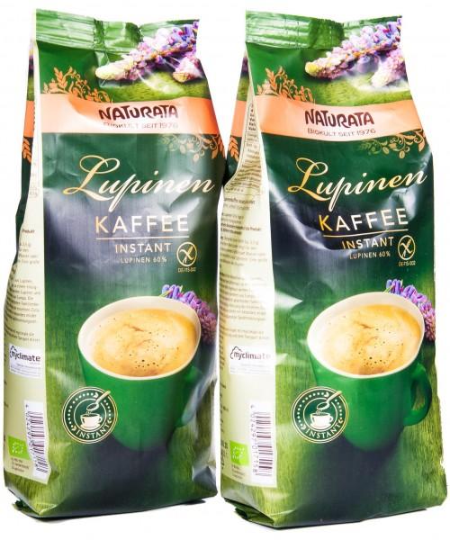 Naturata Bio Lupinenkaffee Instant, Nachfüllbeutel 2er Pack, (2 x 200 g)