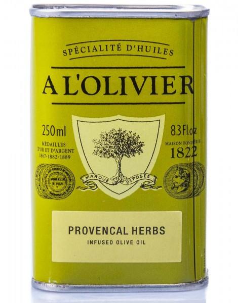 A L'Olivier Olivenöl Provençale mit Kräutern der Provence, 250 ml