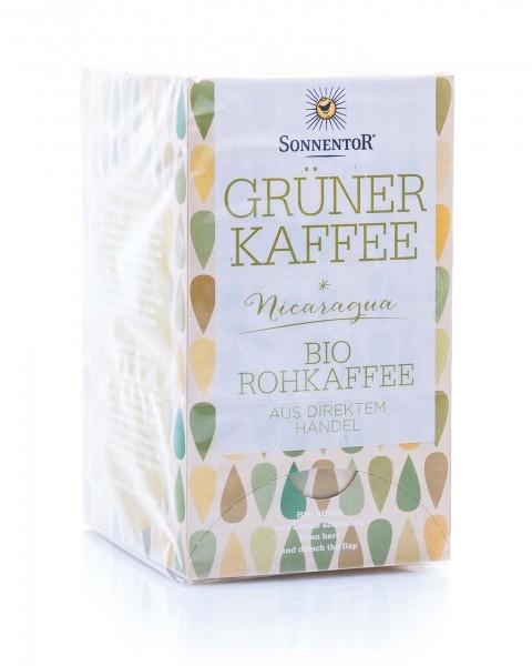 Sonnentor Bio Grüner Kaffee, 18 Beutel (18 x 3 g)