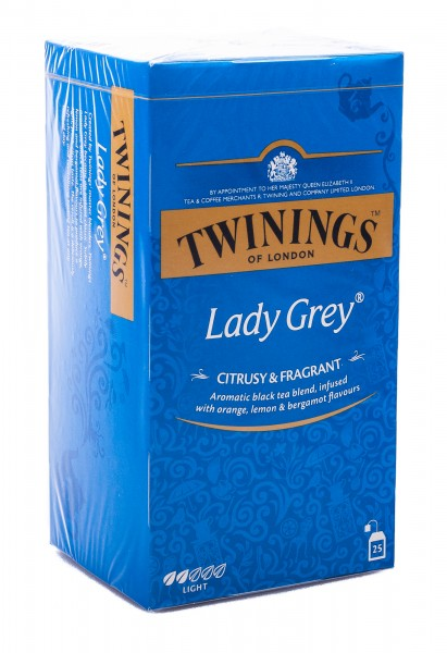 Twinings of London Lady Grey Schwarztee, 25 Teebeutel