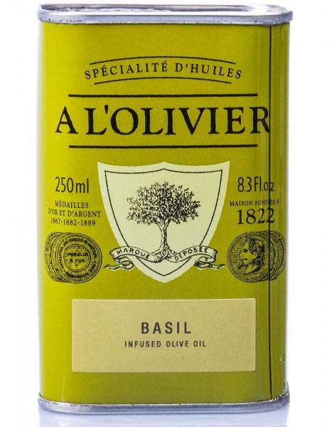 A L'Olivier Olivenöl mit frischem Basilikum, 250 ml
