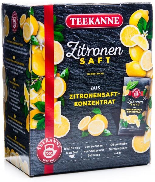 Teekanne Zitronensaft, 100 x 4 ml (400 ml Packung)