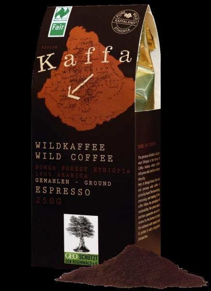 Original Food Bio Kaffa Wildkaffee Espresso, gemahlen, 250 g
