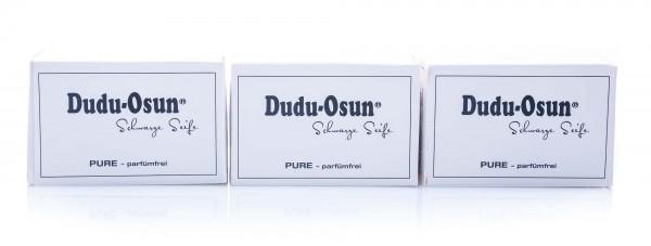 Dudu-Osun Pure, Schwarze Seife parfümfrei, 3er Pack (3 x 150 g)