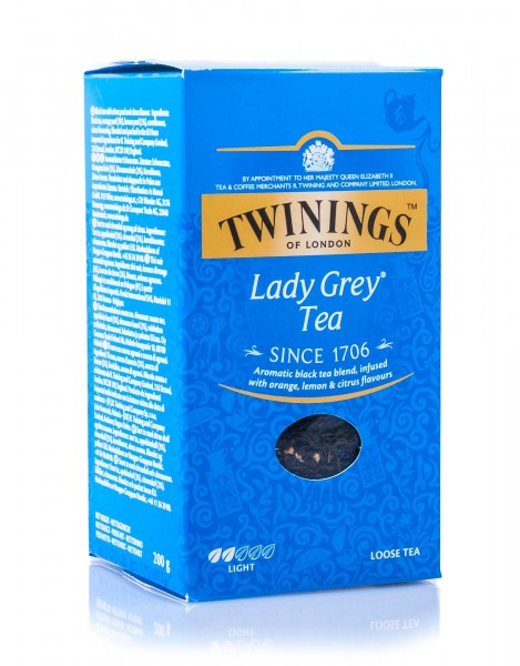 Twinings of London Lady Grey Schwarztee, lose, 200 g