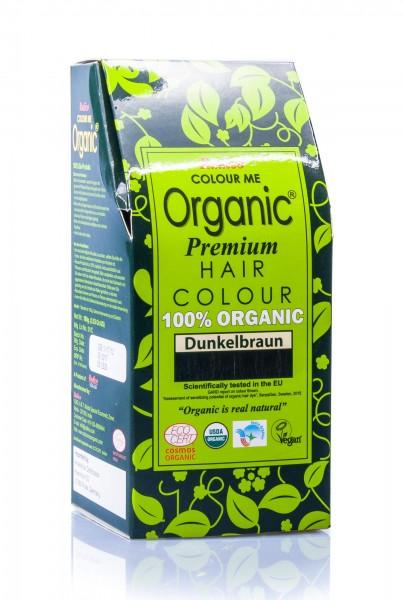 Radico Colour Me Organic Pflanzenhaarfarbe Darkbrown dunkelbraun, 100 g