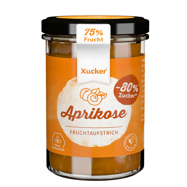 Xucker Fruchtaufstrich Aprikose, 220 g