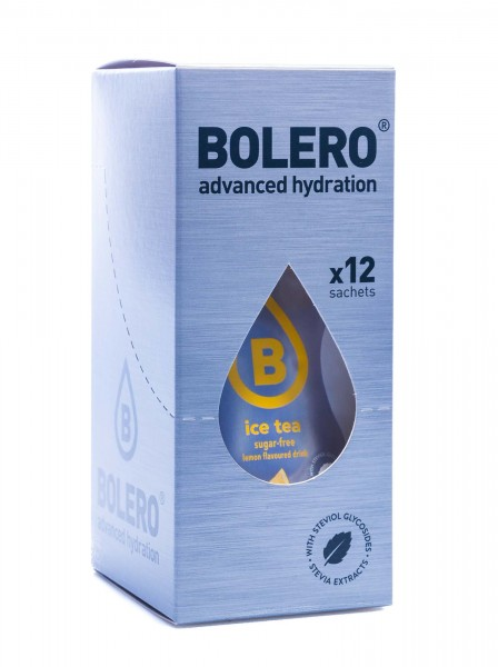 Bolero Drinks Getränkepulver Eistee Zitrone Ice Tea Lemon, 12er Pack (12 x 8 g)