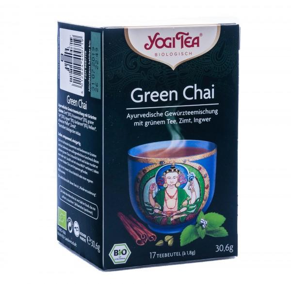 Yogi Tea Bio Green Chai Tee, 17 Teebeutel á 1,8 g
