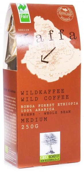Original Food Bio Kaffa Wildkaffee, medium, ganze Bohne, 250 g
