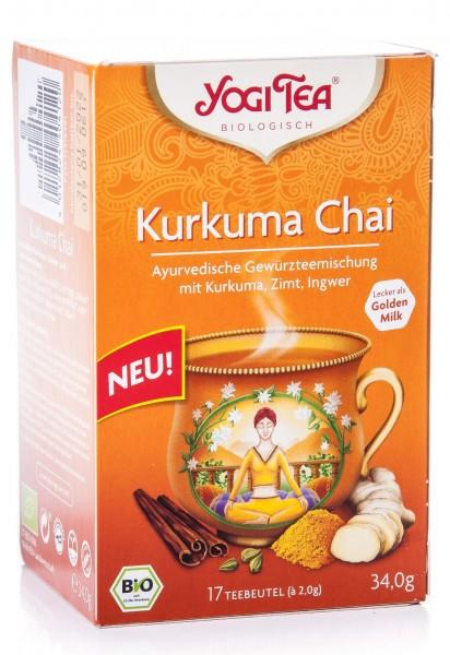 Yogi Tea Bio Kurkuma Chai, 17 Teebeutel, 34 g