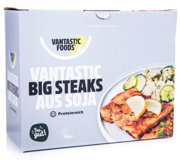 Vantastic Foods Soja Big Steaks Fleischersatz Sojafleisch, 500 g