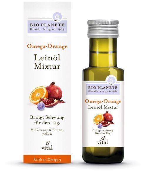 Bio Planete Bio Omega Orange Leinölmixtur, 100 ml
