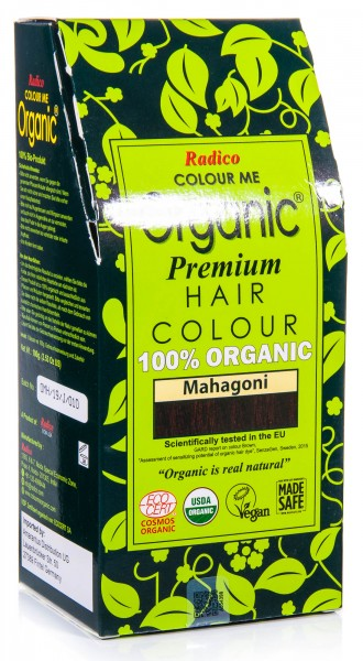 Radico Colour Me Organic Pflanzenhaarfarbe Mahagoni, 100 g