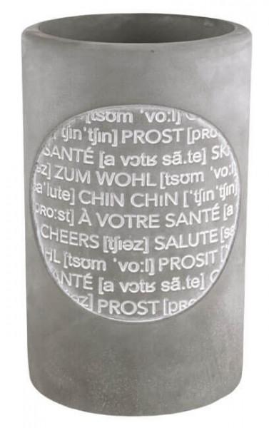 """Räder Weinkühler Vino """"Sante"""", aus Beton mit Prägung, 21 cm hoch"""