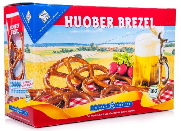Huober Bio Brezeln, Brezelpack, 400 g (1 Karton mit 10 x 2 Stück)