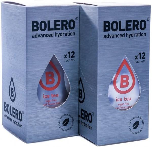 Bolero Drinks Getränkepulver Eistee Pfirsich, 24er Pack (24 x 8 g)